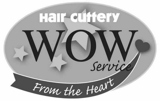 mark for HAIR CUTTERY WOW SERVICE FROM THE HEART, trademark #77814165