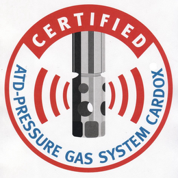 mark for CERTIFIED ATD-PRESSURE GAS SYSTEM CARDOX, trademark #77815310