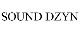 mark for SOUND DZYN, trademark #77816248