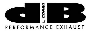 mark for DB BY CORSA PERFORMANCE EXHAUST, trademark #77834191