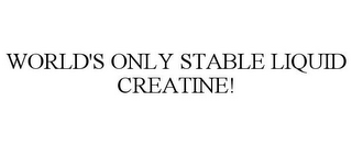 mark for WORLD'S ONLY STABLE LIQUID CREATINE!, trademark #77836627