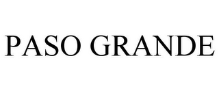 mark for PASO GRANDE, trademark #77837641