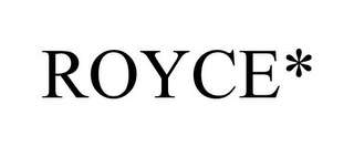mark for ROYCE*, trademark #77840241