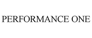 mark for PERFORMANCE ONE, trademark #77849397