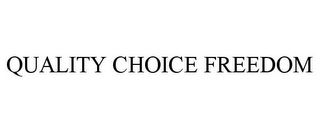 mark for QUALITY CHOICE FREEDOM, trademark #77850275