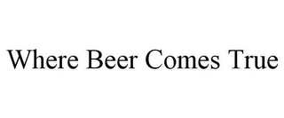 mark for WHERE BEER COMES TRUE, trademark #77851141
