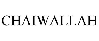 mark for CHAIWALLAH, trademark #77851973