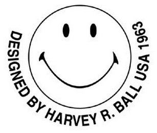 mark for DESIGNED BY HARVEY R. BALL USA 1963, trademark #77856891