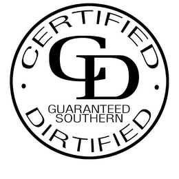 mark for CD CERTIFIED DIRTIFIED GUARANTEED SOUTHERN ESTABLISHED 2008, trademark #77860396