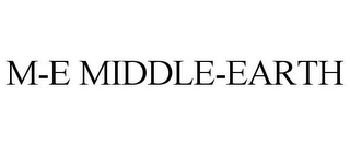 mark for M-E MIDDLE-EARTH, trademark #77860723