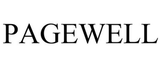 mark for PAGEWELL, trademark #77861350