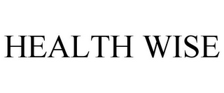 mark for HEALTH WISE, trademark #77862975