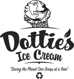 "mark for DOTTIE'S ICE CREAM ""SAVING THE PLANET ONE SCOOP AT A TIME"", trademark #77863032"