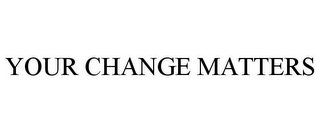 mark for YOUR CHANGE MATTERS, trademark #77865555