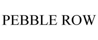 mark for PEBBLE ROW, trademark #77872945