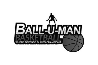 mark for BALL-U-MAN BASKETBALL WHERE DEFENSE BUILDS CHAMPIONS, trademark #77873273