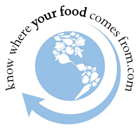 mark for KNOW WHERE YOUR FOOD COMES FROM.COM, trademark #77883973