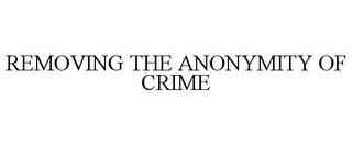 mark for REMOVING THE ANONYMITY OF CRIME, trademark #77885219
