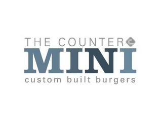 mark for THE COUNTER MINI CUSTOM BUILT BURGERS, trademark #77886866