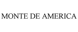 mark for MONTE DE AMERICA, trademark #77887003