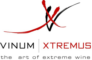 mark for VINUM XTREMUS, THE ART OF EXTREME WINE, trademark #77888989