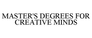 mark for MASTER'S DEGREES FOR CREATIVE MINDS, trademark #77893749
