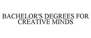 mark for BACHELOR'S DEGREES FOR CREATIVE MINDS, trademark #77893765