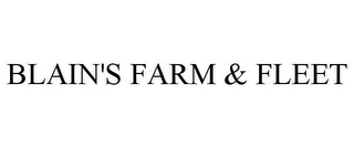 mark for BLAIN'S FARM & FLEET, trademark #77894710