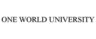 mark for ONE WORLD UNIVERSITY, trademark #77895873