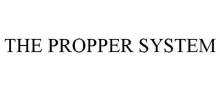 mark for THE PROPPER SYSTEM, trademark #77902505