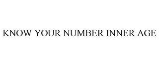 mark for KNOW YOUR NUMBER INNER AGE, trademark #77906248