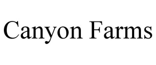 mark for CANYON FARMS, trademark #77908987