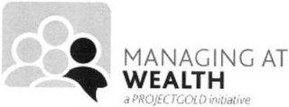 mark for MANAGING AT WEALTH A PROJECTGOLD INITIATIVE, trademark #77912123