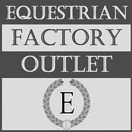 mark for EQUESTRIAN FACTORY OUTLET E, trademark #77913262