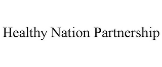 mark for HEALTHY NATION PARTNERSHIP, trademark #77914017