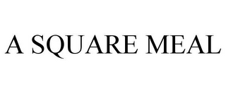 mark for A SQUARE MEAL, trademark #77915157