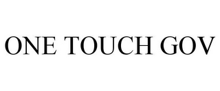 mark for ONE TOUCH GOV, trademark #77921457