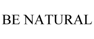 mark for BE NATURAL, trademark #77926552