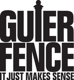 mark for GUIER FENCE IT JUST MAKES SENSE, trademark #77927759