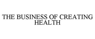 mark for THE BUSINESS OF CREATING HEALTH, trademark #77928555