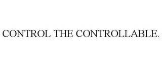 mark for CONTROL THE CONTROLLABLE., trademark #77932613