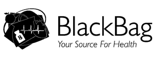 mark for RX BLACKBAG YOUR SOURCE FOR HEALTH, trademark #77937028