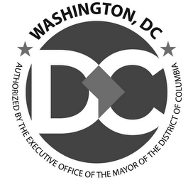 mark for WASHINGTON, DC AUTHORIZED BY THE EXECUTIVE OFFICE OF THE MAYOR OF THE DISTRICT OF COLUMBIA DC, trademark #77945202
