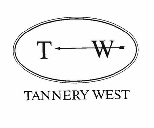 mark for T W TANNERY WEST, trademark #77953790