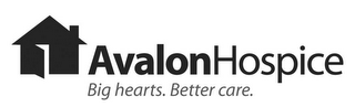 mark for AVALON HOSPICE BIG HEARTS. BETTER CARE., trademark #77955399