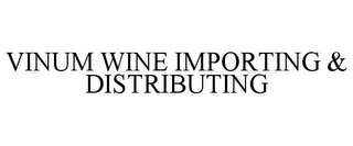 mark for VINUM WINE IMPORTING & DISTRIBUTING, trademark #77963749