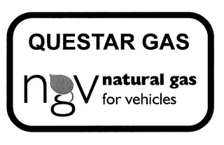 mark for QUESTAR GAS NGV NATURAL GAS FOR VEHICLES, trademark #77963794