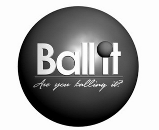 mark for BALL IT ARE YOU BALLING IT?, trademark #77964873