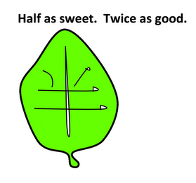 mark for HALF AS SWEET. TWICE AS GOOD., trademark #77969051