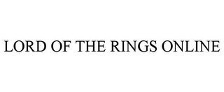 mark for LORD OF THE RINGS ONLINE, trademark #77975377